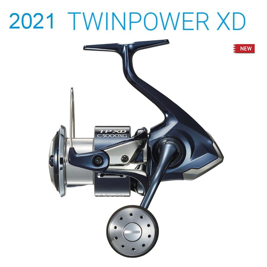 Новинка 2021, оригинальные спиннинговые Рыболовные катушки SHIMANO TWIN POWER XD C3000HG 4000PG C5000XG для морской воды, долговечные катушки, сделано в Японии 1