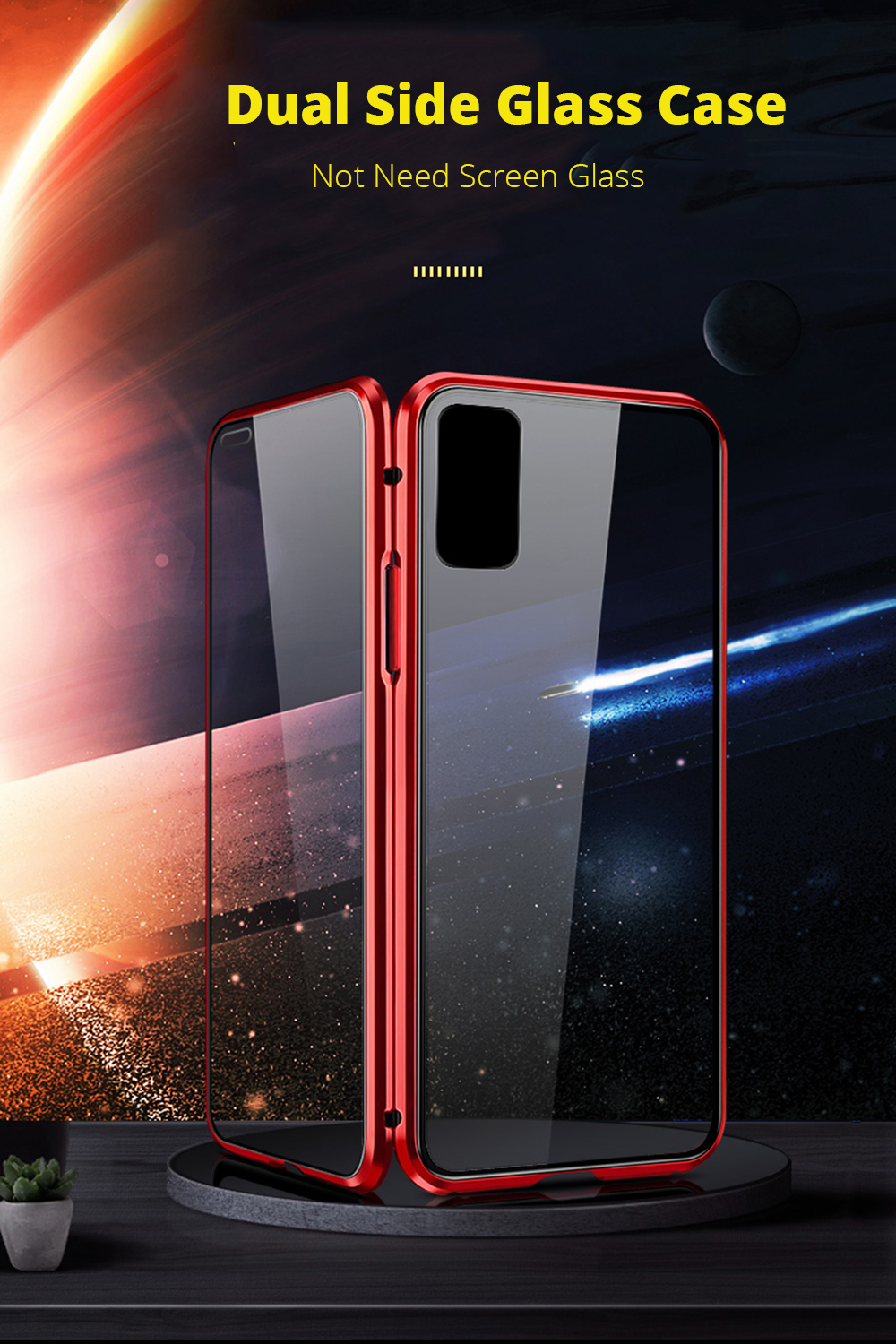 Double-sided Glass Magnetic Case Huawei Honor 9X Pro V30 Pro V20 V10 8X Play 3 20 Pro 20Lite 20i 10i 10Lite 9i Note10 Metal Case