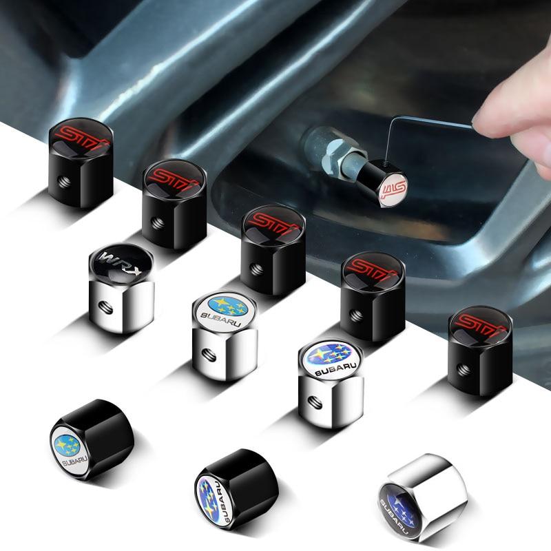 Exterior Automobile Wheel Anti-Theft Tire Valve Cap For Subaru STI XV Forester Outback Impreza Legacy WRX BRZ Accessories