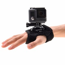 цена на PULUZ Mount Holder Wrist Hand Strap Band 360 Degree Rotation For GoPro HERO 5/ 4 Session/ 4/ 3+/ 3/ 2/ 1 Accessories