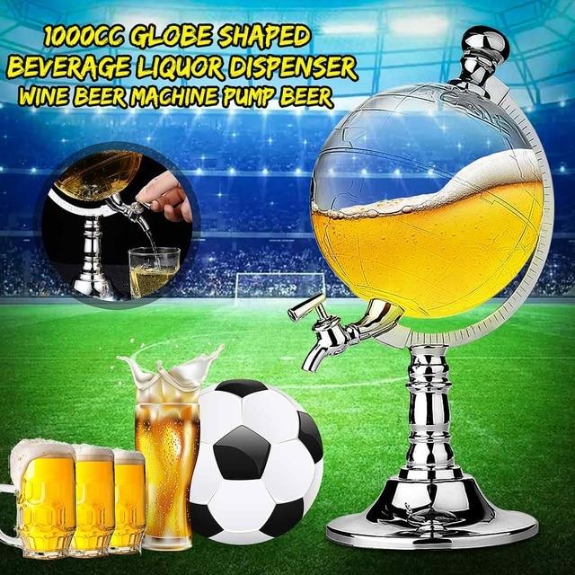 1000cc/ml Globe Shape Design Mini Home Night Club Beverage Liquor Dispenser Beer Liquid Drinking Dispenser Machine Tool