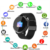 Q8 Smart Watch OLED Color Screen men Fashion Fitness Tracker Heart Rate Monitor Blood Pressure Oxygen Pedometer Smartwatch
