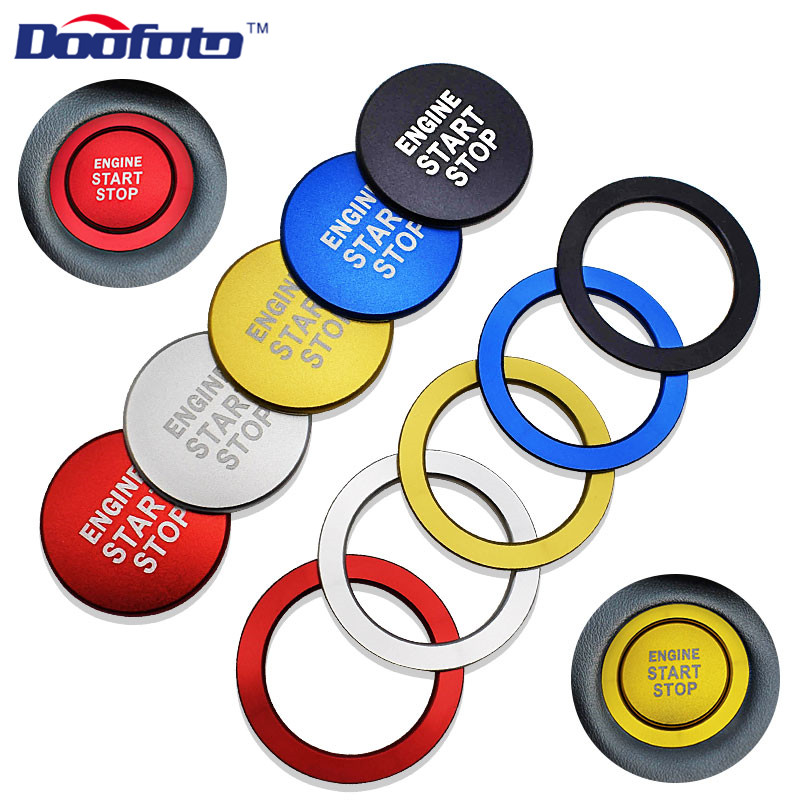 Arrival Car Styling Accessories Start Stop Engine Power Button Ring Sticker Fit For Toyota C HR Corolla Auris Prius Chr Cover