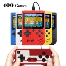 Przenośny Mini ręczny gra wideo konsola do gier Retro 8-Bit 3.0 Cal kolorowy wyświetlacz LCD dla dzieci kolor konsola grze gracza zbudowany-w 400 gry