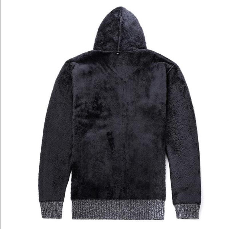 Men/'s couples Sweater automne hiver lâche Hoodies plus velours épais manteau chaud