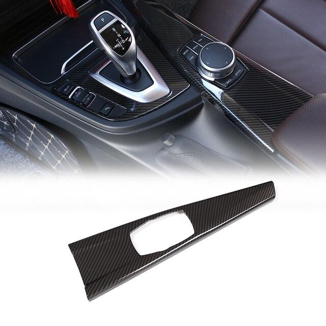 車のカーボン繊維マルチメディアパネルカバートリムインテリアデコレーションステッカー Bmw 3 シリーズ F30 F34 4 シリーズ F33 F36 2014 2018