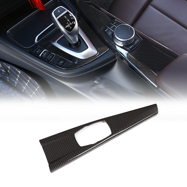 Car Carbon Fiber Multimedia Panel Cover Trim Interior Decoration Stickers For BMW 3 Series F30 F34 4 Series F33 F36 2014 2018