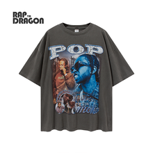 Hip Hop Men's T-shirt Oversized Retro Streetwear Summer New Fashion Men's Clothing Cotton Digital Print Graphic Rock Male Top