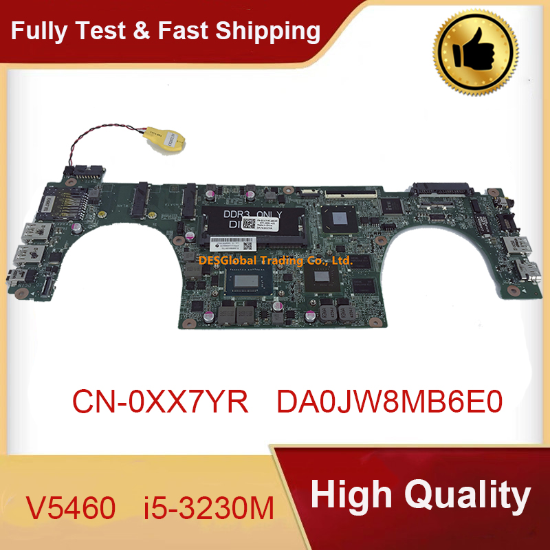 CN-0XX7YR 0XX7YR XX7YR Mainboard DA0JW8MB6E0 for DELL Vostro 5460 V5460 Laptop Motherboard <font><b>i5</b></font>-<font><b>3230M</b></font> 31JW8MB0120 Working Perfect image
