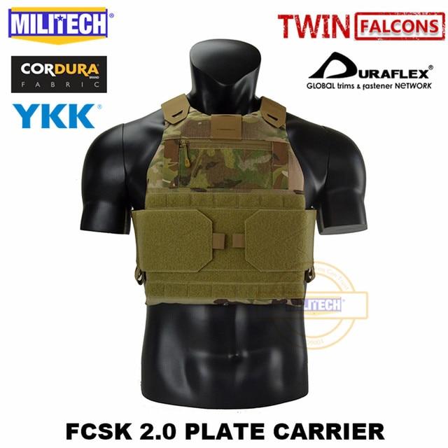 MILITECH FCSK 2.0 Advanced Slickster Plate Carrier Military Combat Tactical Vest Police Body Armor Carrier For 10x12/SAPI/ESAPI 1