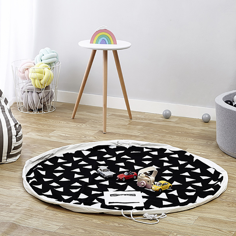 Baby Activity Playmat Toy Storage  Bag Portable Infant Carpet Developing Crawling Mat Nursery Outdoor YZL036