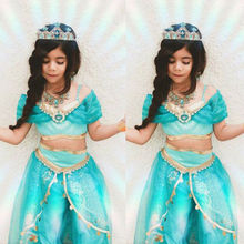 Fancy 3-8y Baby Girl Princess Elsa Dress for Girls Clothing Wear Cosplay Elza Costume Halloween Christmas Party high quality fancy princess elsa costume cosplay dress christmas for girls clothing baby role play halloween dresses with crown