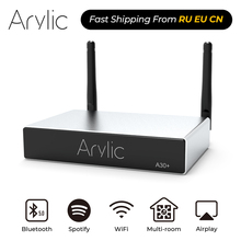Arylic A30 + WiFi ו Bluetooth 5.0 מיני בית מגבר HiFi סטריאו Class D דיגיטלי multiroom עם Spotify Airplay אקולייזר