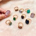 Момиджи винтажные Открытые Кольца для женщин очаровательный натуральный камень кольца Темперамент женских украшений подарки Свадебная ве...