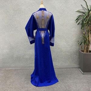 Image 3 - Afrika giyim 2020 yeni pelerin ceket Riche Bazin afrika elbise kadınlar seksi Sequins perspektif hırka pelerin ceket