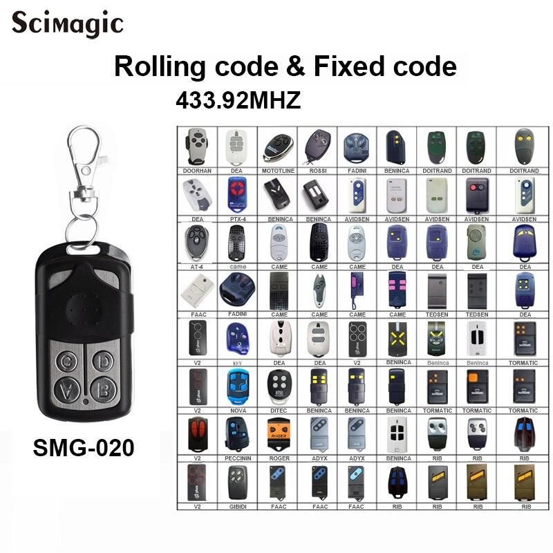 For DOORHAN MOTORLINE V2 DITEC DEA 433.92MHZ Garage Door Remote Control Gate Garage Key Chain For Barrier 433MHz