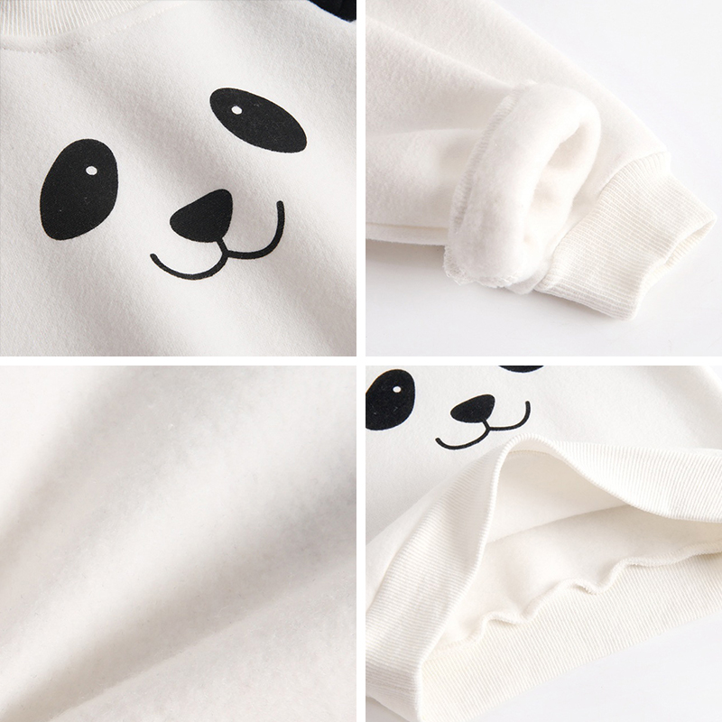 Image 5 - Bear Leader Baby Clothing Sets New Winter Newborn Baby Clothes Suits Casual Cartoon Panda Pullover+Pants 2pc Children OutfitsClothing Sets   -