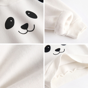 Image 5 - דוב מנהיג תינוק קובע חדש חורף יילוד תינוק בגדי חליפות מקרית Cartoon פנדה סוודר + מכנסיים 2pc ילדים תלבושות