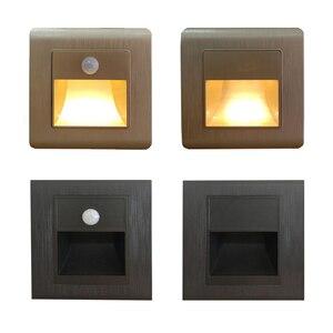 Светильник с дачиком движения Ночная подсведка для коридора для ванной для кухни светильник встраиваемый в стену для подсветки ступеней ле...