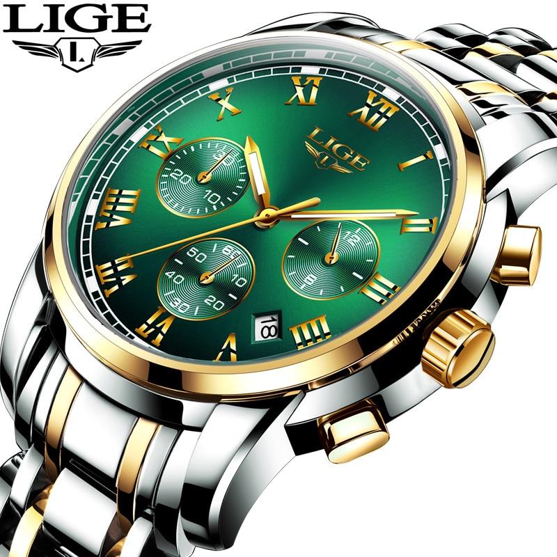 2019 New LIGE Top Brand Luxury Mens Watches 30m Waterproof Date Clock Male Sports Watch Men Quartz Wrist Watch Relogio Masculino