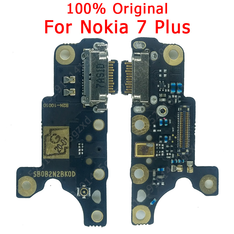 Original USB Charging Board For Nokia 7 Plus Charging Port Charger Flex Cable PCB Dock Connector Spare Parts
