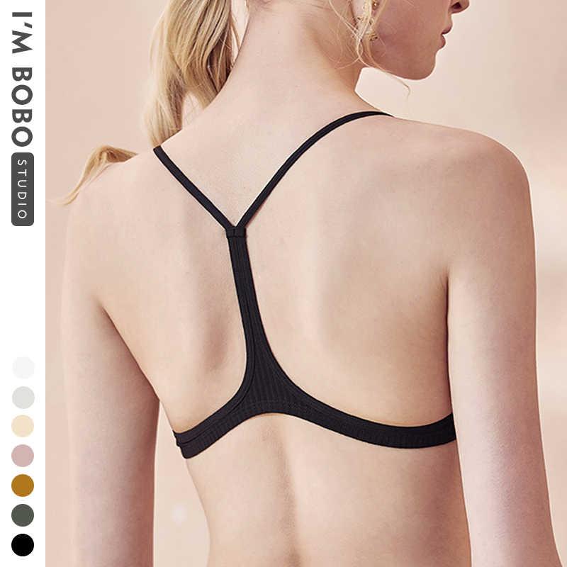 IMBOBO Mùa Hè Mồ Hôi Áo Cotton Áo Ngực Bra Nữ Ống Đầu Thoải Mái Ngủ Áo Vest Màu Y Hình Lưng Áo Lót Nữ quần Lót Ren
