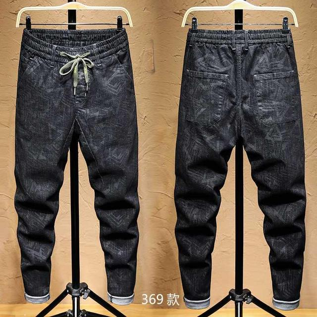 Free shipping new fashion men's male casual Original camouflage jeans men plus velvet autumn stitching pants Slim Korean C3129 65