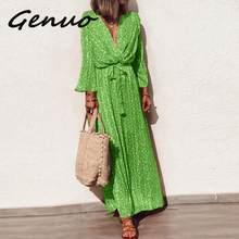 Женское платье с цветочным принтом genuo повседневное длинное