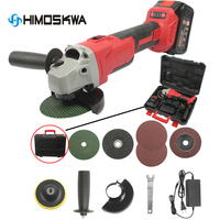 Angle Grinder 20V Cordless Lithium Ion Grinding machine Electric grinder Angle Grinder grinding Power Tools 400w|Polishers| |  -