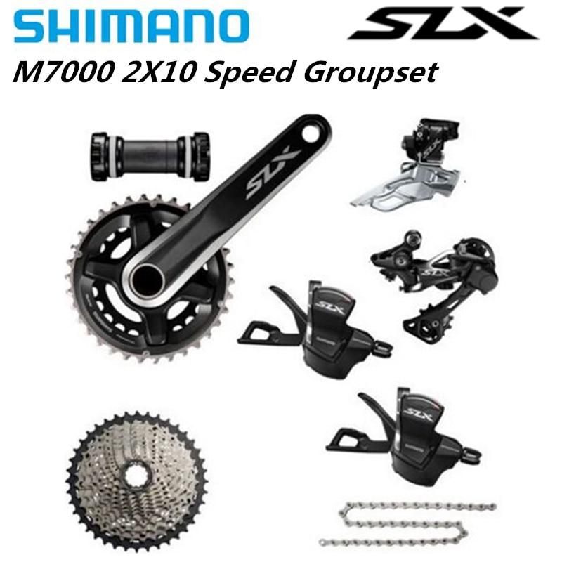 SHIMANO SLX M670 2x10 Speed MTB Groupset 7 pcs SLX M670 Double Groupset 175MM