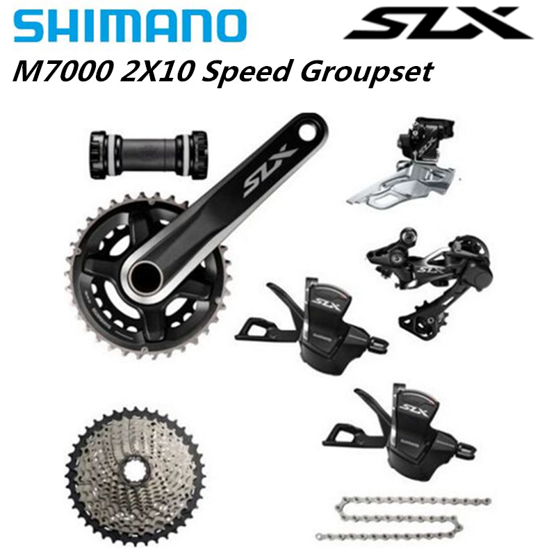 <font><b>Shimano</b></font> <font><b>SLX</b></font> <font><b>M7000</b></font> 2x11 22 Speed 170mm/175mm <font><b>Groupset</b></font> 7 Pcs.<font><b>SLX</b></font> <font><b>M7000</b></font> Double <font><b>Groupset</b></font> 11-40 11-42T 11-46T image