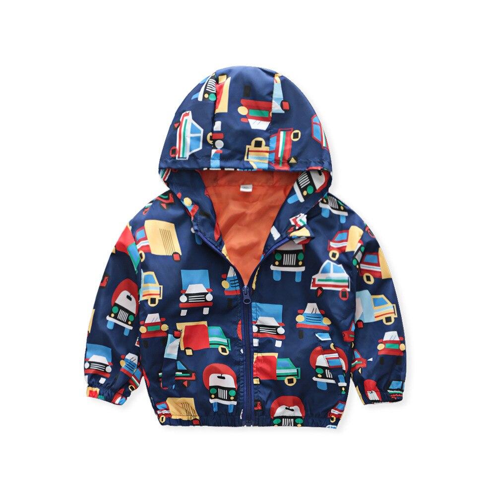 2019 Autumn New Products Coat Childrenswear BOY'S Children Cartoon Truck Printed Zipper Hoodle