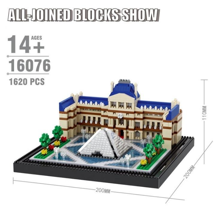 Balody World Famous Architecture Diamond Building Blocks Toy Taj Mahal Vassili Church Big Ben London Bridge 12