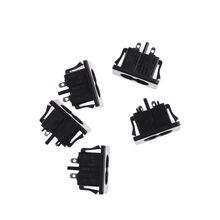 5Pcs AC250V 2.5A IEC320 C8 Mannelijke 2 Pins Black Power Inlet Socket Panel Ingebed Connector 28x16mm(China)