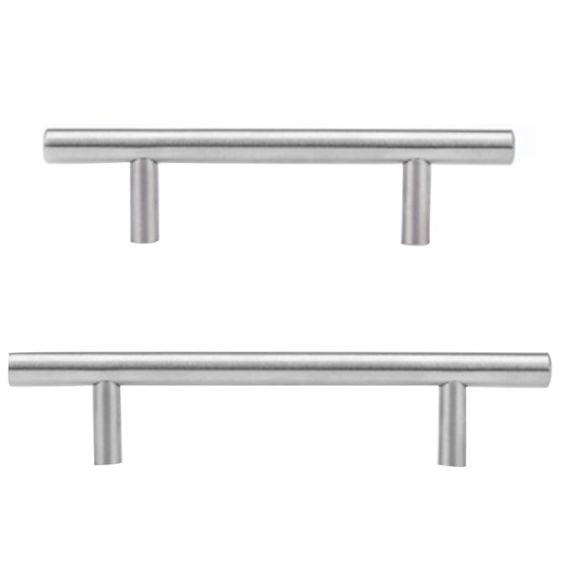 20Pcs Furniture Handles Kitchen Cabinet T Pulls Handles Knobs Stainless Steel Handles for Furniture Door Cabinet Bar Handle Hard