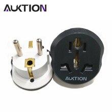 Universal ue adaptador de viagem 16a euro conversor plug au eua reino unido cn plug para ue ac 220v tomada de energia 4.8mm 2 pino redondo carregador 10a