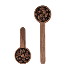 Measuring-Spoons Long-Handle Coffee-Bean-Powder Natural-Walnut for Barista-Baking-Tool