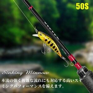TSURINOYA Fishing Lure DW63 50mm 5g Sinking Water Mini Minnow Hard Lure Artifical Small Crankbait Pencil Wobblers Hard Bait(China)