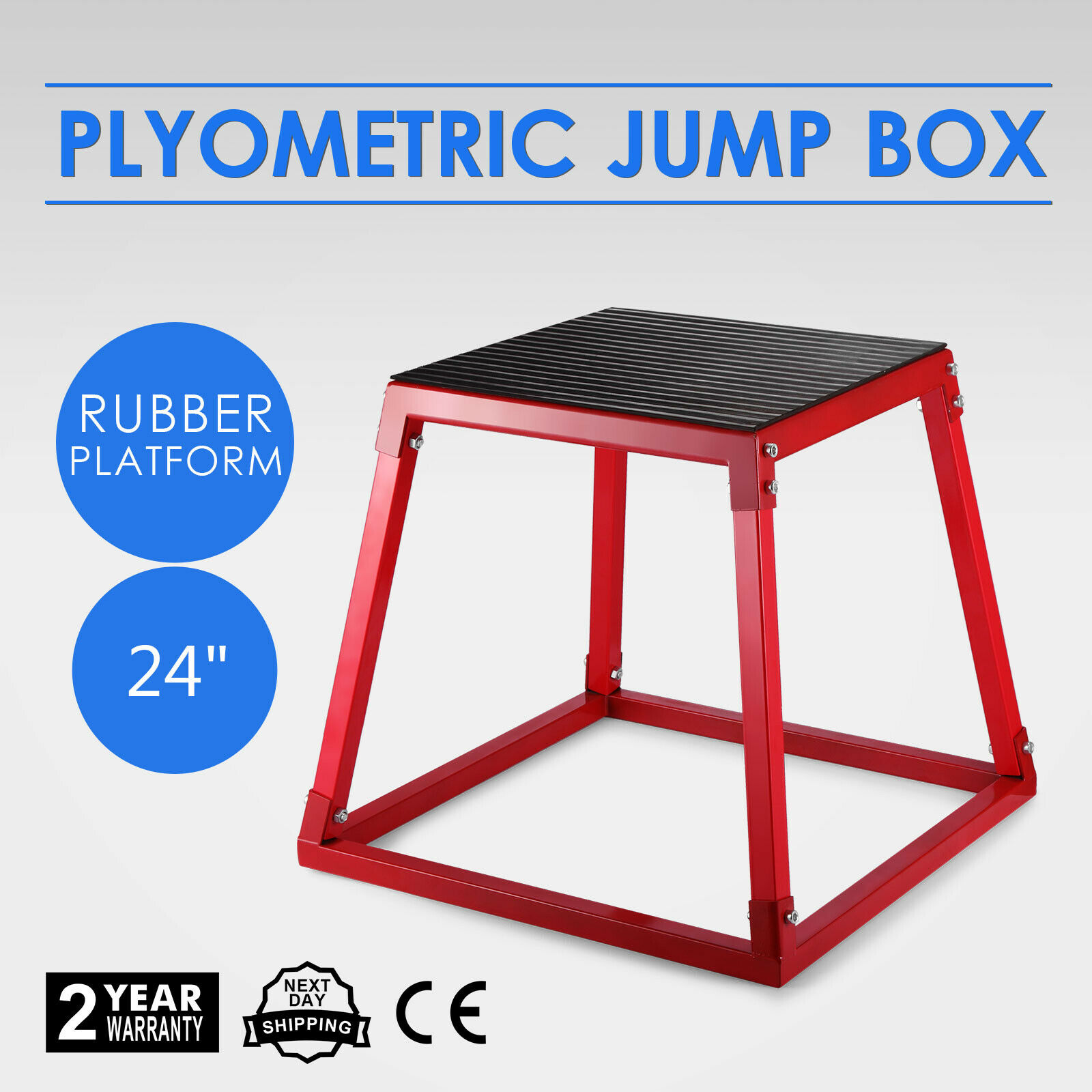 60cm Fitness Exercise Jump Plyometric Plyo Box Step Cross Gym Sports Workout