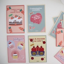 Postcard Decoration Background-Picture Photo-Prop Wall-Sticker Card-Room Greeting-Card