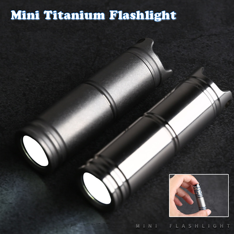 Mini Titanium Flashlight Waterproof Portable Rechargeable Cute Pocket Emergency Led Torch For Outdoor Camping Hiking Riding