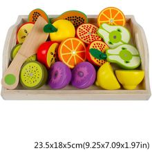 Wooden Classic Game Simulation Kitchen Series Toys Cutting Fruit Vegetable Set Toys Montessori Early Education Gifts R7RB