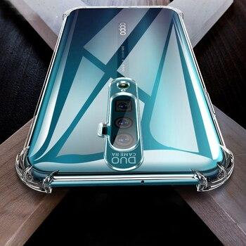 Перейти на Алиэкспресс и купить Прозрачный защитный чехол с воздушной подушкой для oppo reno 2 2f 2z 10x zoom ace x2 pro, ударопрочный силиконовый чехол для телефона oppo reno2, чехол