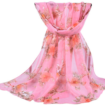 2020 new autumn Winter Women Printed Soft Chiffon Shawl Wrap Wraps Scarf Scarves Ladies pastoral chiffon scarves scarves  #927 4