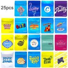 25 pces letras imprimir alimento biscoito biscoito armazenamento sacos de embalagem auto selo malotes zip plástico sacos de bloqueio sacos grossos sacos de embalagem