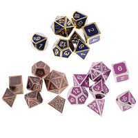 21x Polyhedral Dice Set D4 D20 Multisided Dies Digital for Parts Table Games