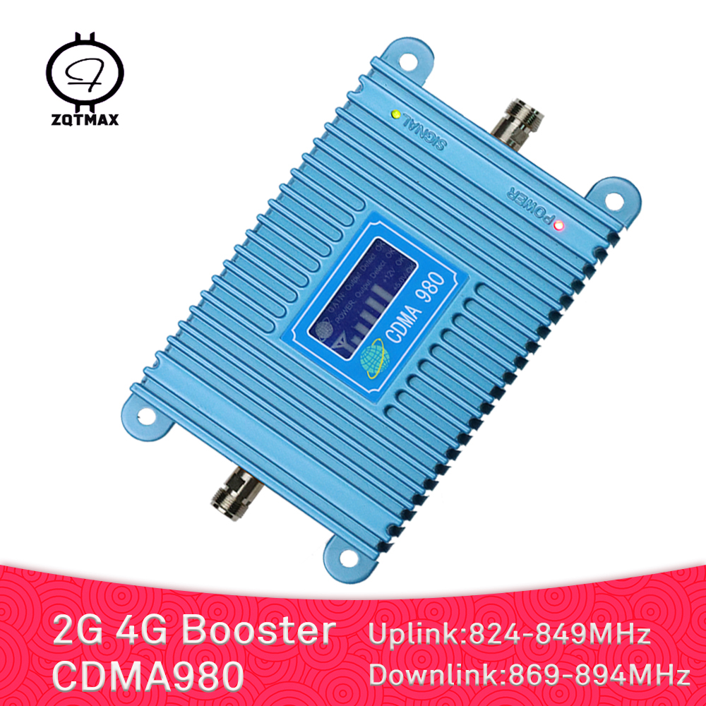 ZQTMAX 2G 4G Repeater GSM Mobile Signal Booster 850 MHz 70dB Lte Cellular Amplifier For Office And Fashion Home