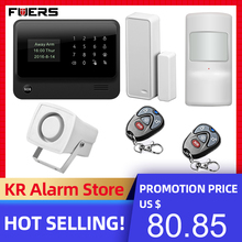 FUERS 2019 ใหม่WIFI GSM 3G G90B Wireless Home Security ALARM System IOS Android APP Control Home Burglar Security