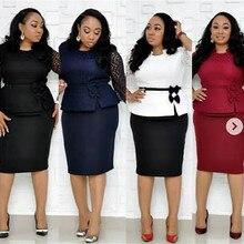 Новые элегантные модные стильные африканские женские красивые платья размера плюс L-4XL