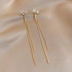 Fashion women's Swing Earrings Star Rubber Chain Earrings Fashion Women's long pendant women's simple jewelry Gift 2021